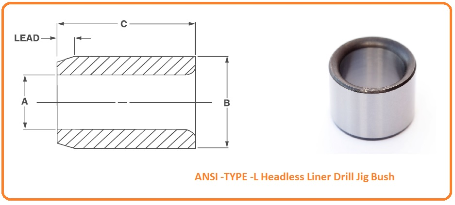 ANSI P TYPE -Headless Press Fit Drill Jig Bush