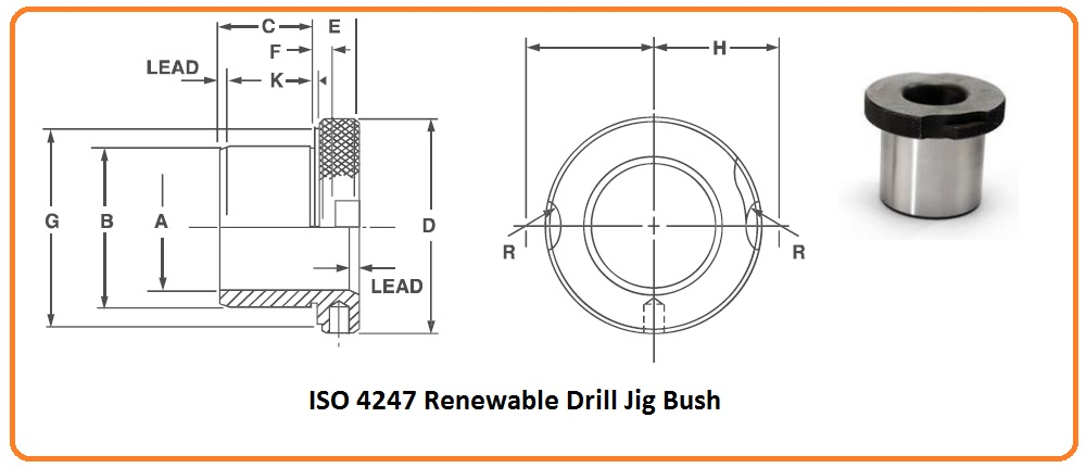 ISO 4247 Renewable Drill Jig Bush